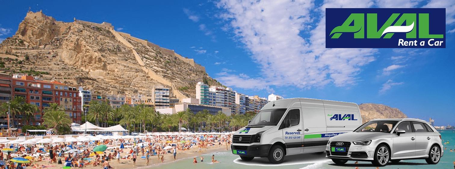 alquiler de coches y furgonetas en Alicante AVAL RENT A CAR