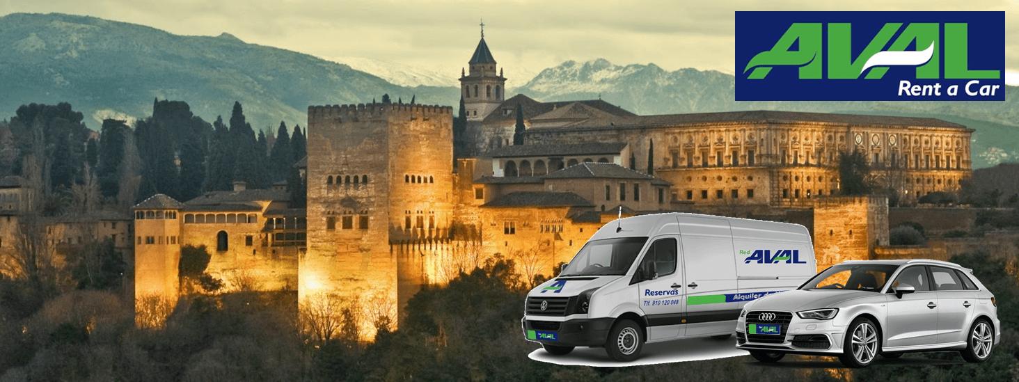 alquiler de coches y furgonetas en Granada AVAL RENT A CAR