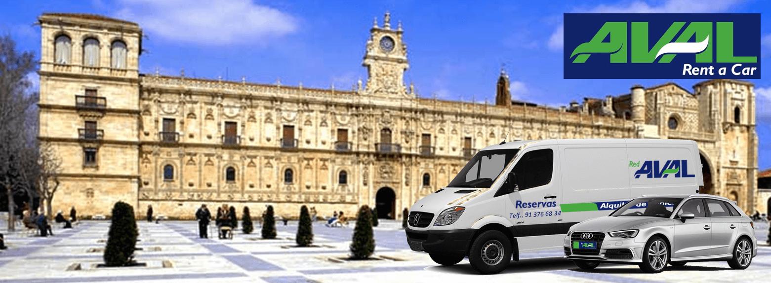 alquiler de coches y furgonetas en Leon AVAL RENT A CAR